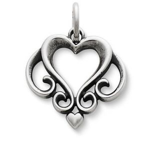James Avery Ornate Open Heart Charm